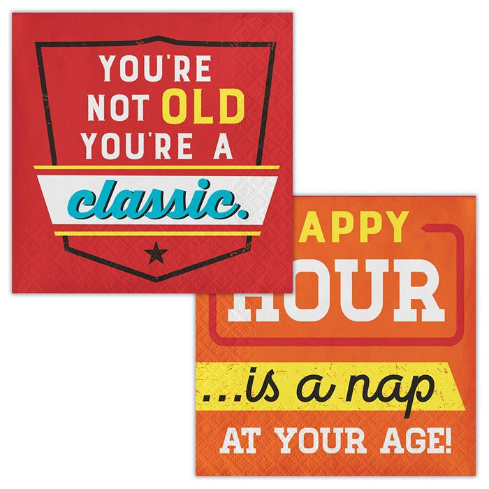 Age Humor Napkins - Party, Girl!