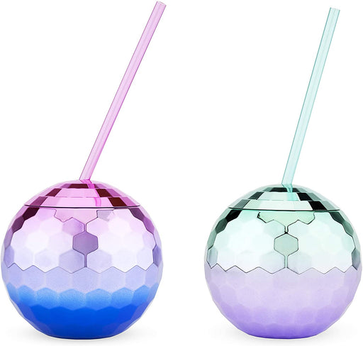 Assorted Ombre Disco Ball Drink Tumblers - 2 Colors - Party, Girl!