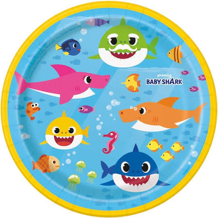 "Baby Shark 9"" Plates - Party, Girl!"