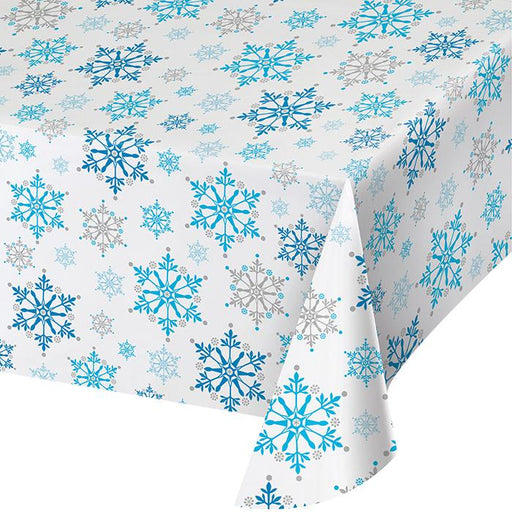 Snowflake Plastic Table Cover - Party, Girl!