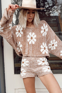 Daisy Knit Shorts