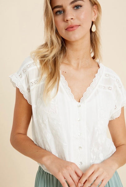 Meadow Embroidered Top