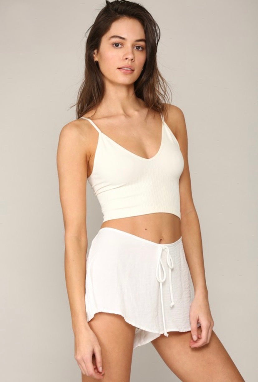 Crop Secret Tank in Ivory