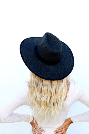 Black Sand Beach Straw Hat