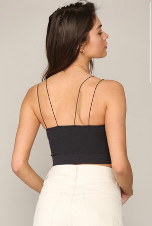 Crop Secret Tank in Black