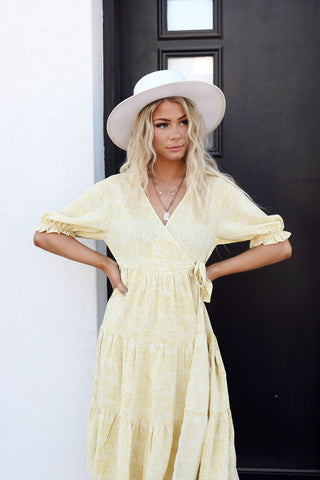 Yellow Dipped Daisy Dress
