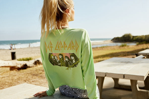 Def Leppard Animal Long Sleeve Crop