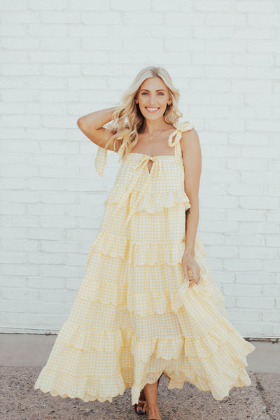 Sunny Day Gingham Maxi
