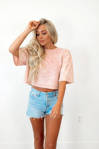 Coastal Crop Tee in Desert Rose