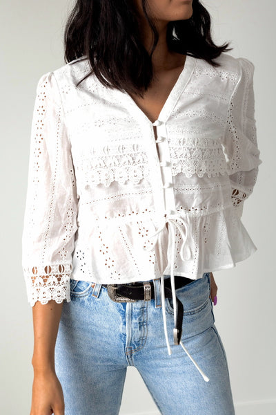 Dainty Baby Eyelet Top