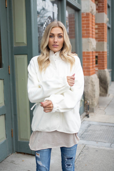 Hit The Slopes Jacket in Ivory