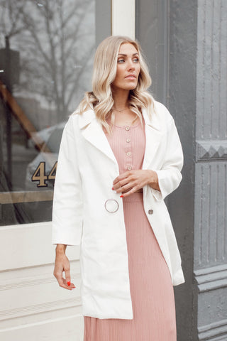 White Wonder Trench Jacket