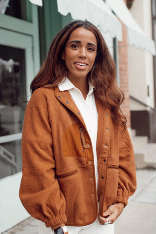 Hit The Slopes Jacket in Caramel