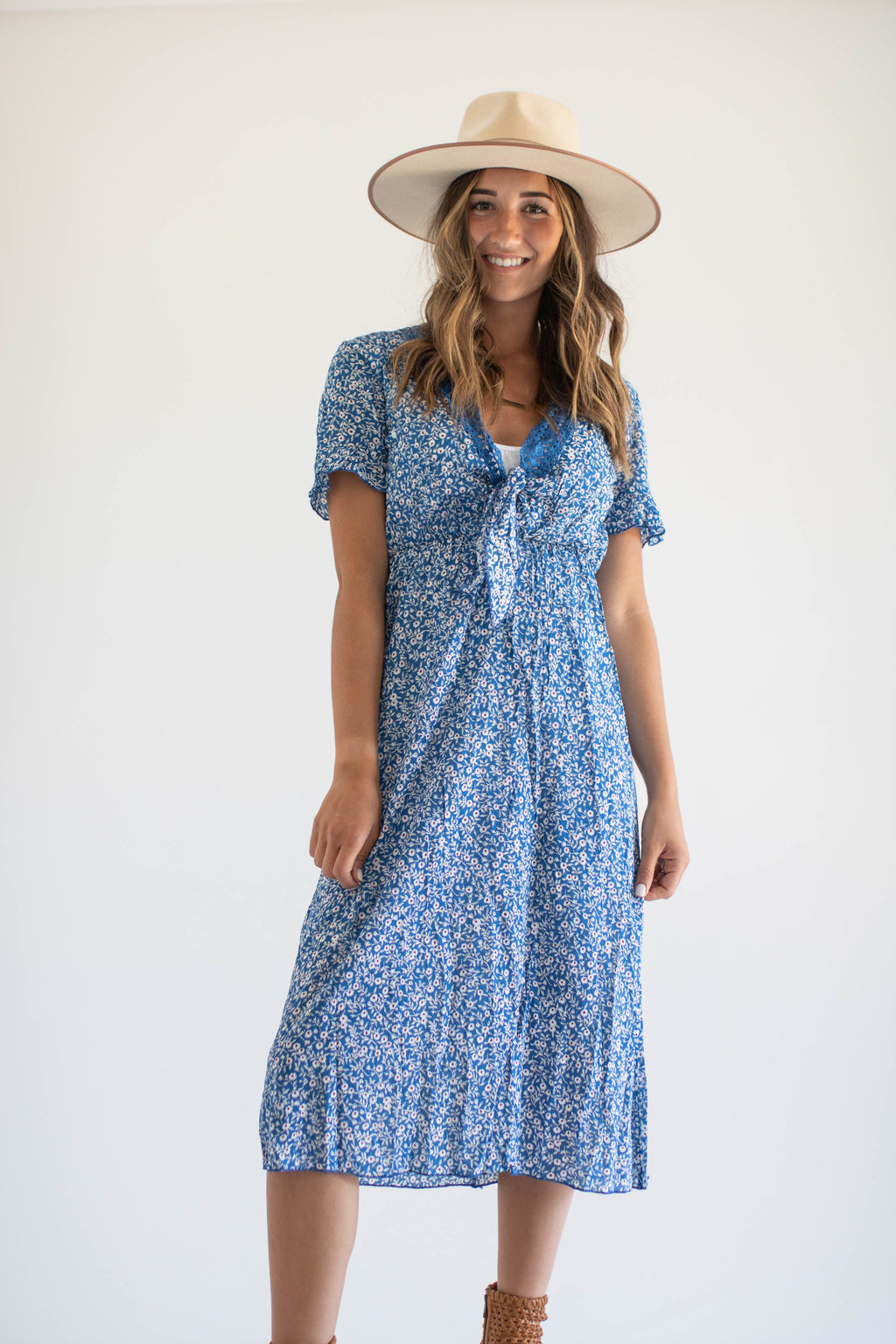 Blue Blossoms Midi