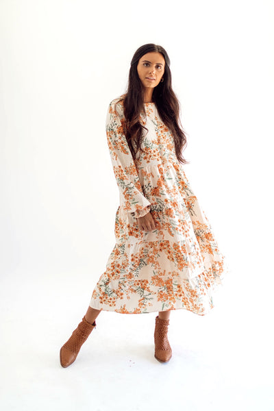 Autumn Breeze Midi Dress