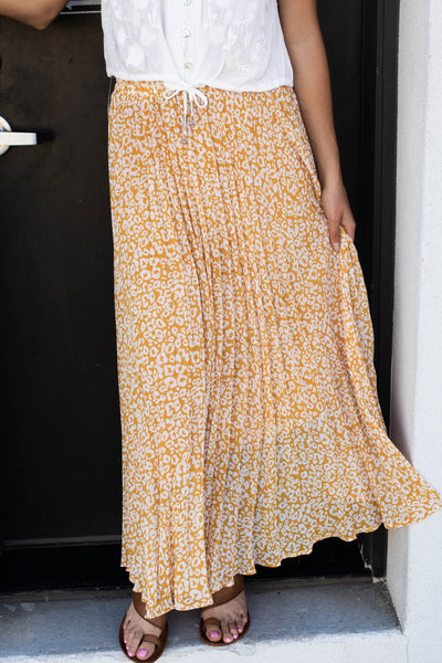 Golden Leopard Skirt