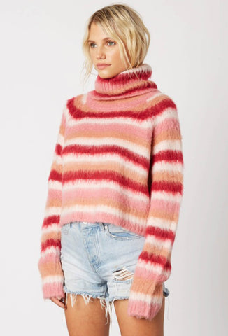 Pink Burst Turtleneck