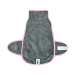 WILKO Pink & Grey Beach Towel Wrap