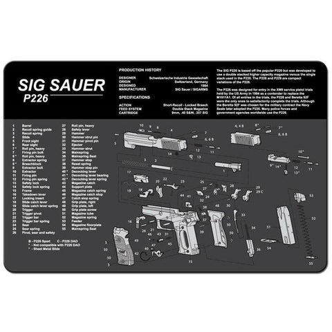 【Hunter Select】11 Inch x 17 Inch Gun Cleaning Pad Mat with Sig Sauer P226 Imprint #00405