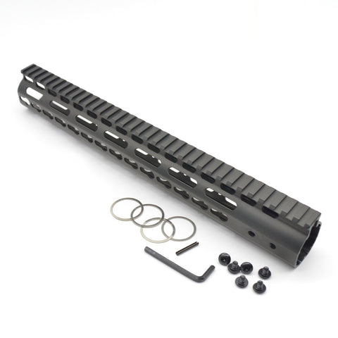 【J&E Machine Tech】Made in USA Continuous Top Rail with Anti Rotate feature Gen-2 NSR Handguard 16.7