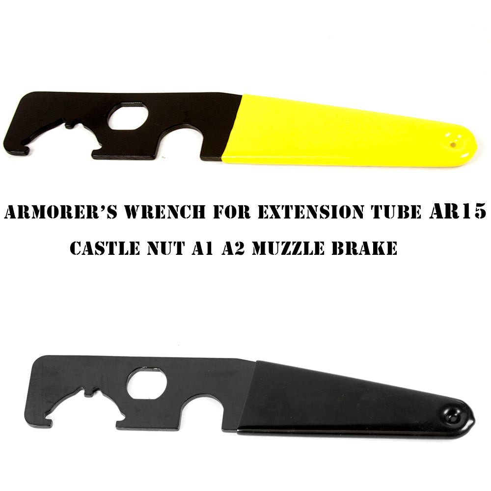 【Hunter Select】AR15/AR10/M4 Enhanced Spanner Wrench Tool 2 colors Black/Yellow #00256