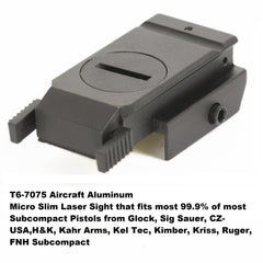 【Hunter Select】5Mw Pistol Micro Compact Red Laser Sight with additional Picatinny Rail #00280
