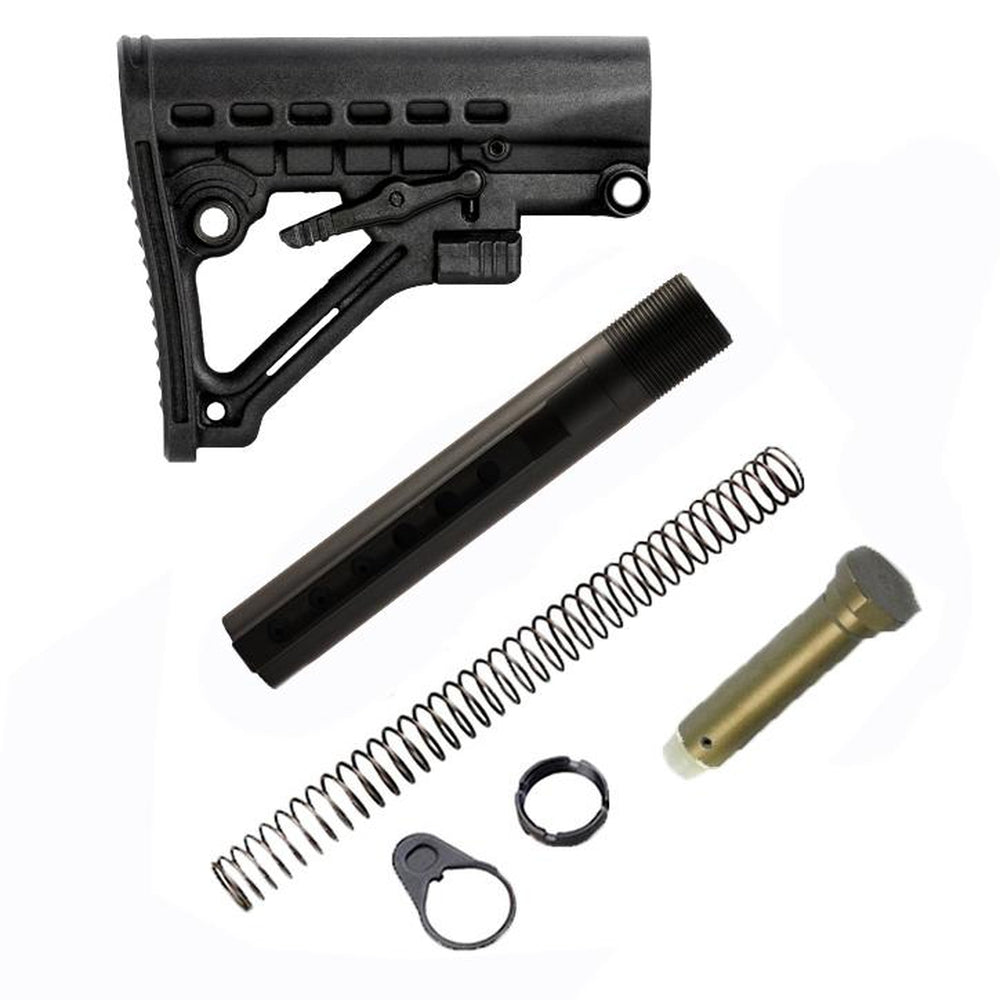 【JE Machine Tech】AR-15 Skeleton  Stock Buffer Tube Kit Mil-Spec Made in USA #00622