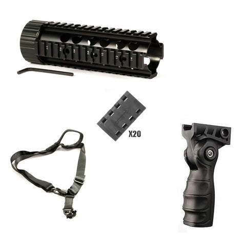 "【Hunter Select Carbine-Length Handguard - 7"" + Forend Pistol Grip w/ storage+Rail Cover set+1/2 Point Sling MS2 #00354"