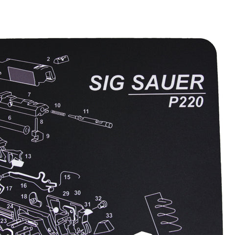 【Hunter Select】Cleaning Mat w/ Sig Sauer p220  11x17