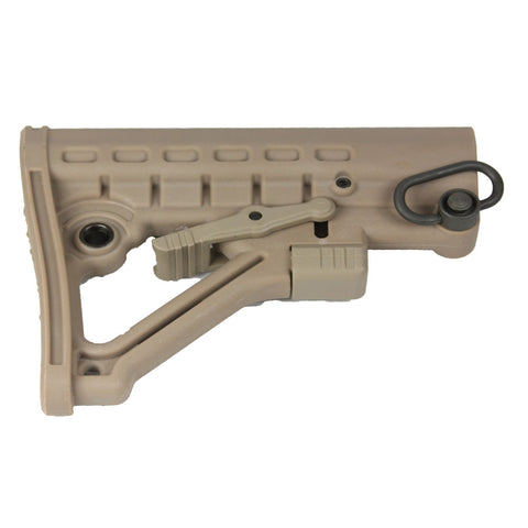 【Hunter Select】AR-15 Mil-Spec Skeleton Adjustable Stock -Tan #00007