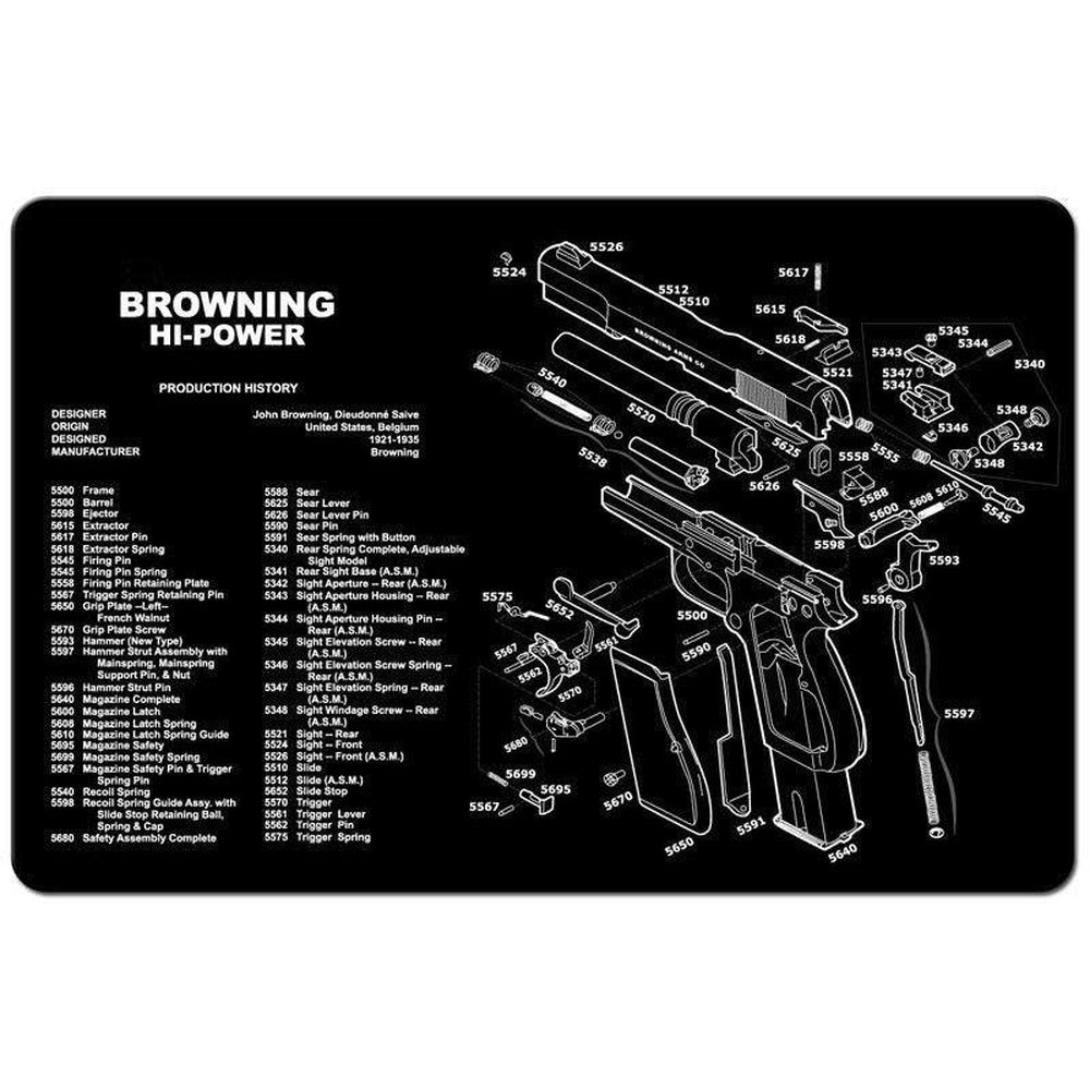 "【Hunter Select】11x17"" Handgun Workbench Maintenance Cleaning Mat With Browning Imprint #00395"