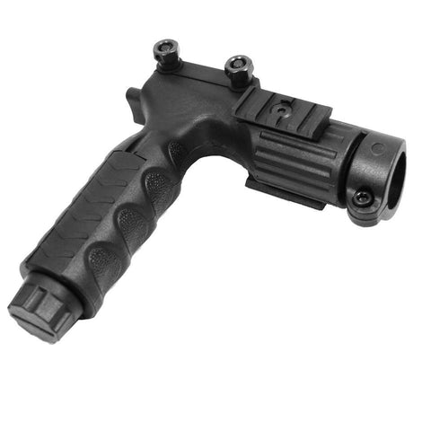 "【Hunter Select】Tactical Folding Grip with 1"" Flashlight Adapter 1913 Picatinny  #00483"