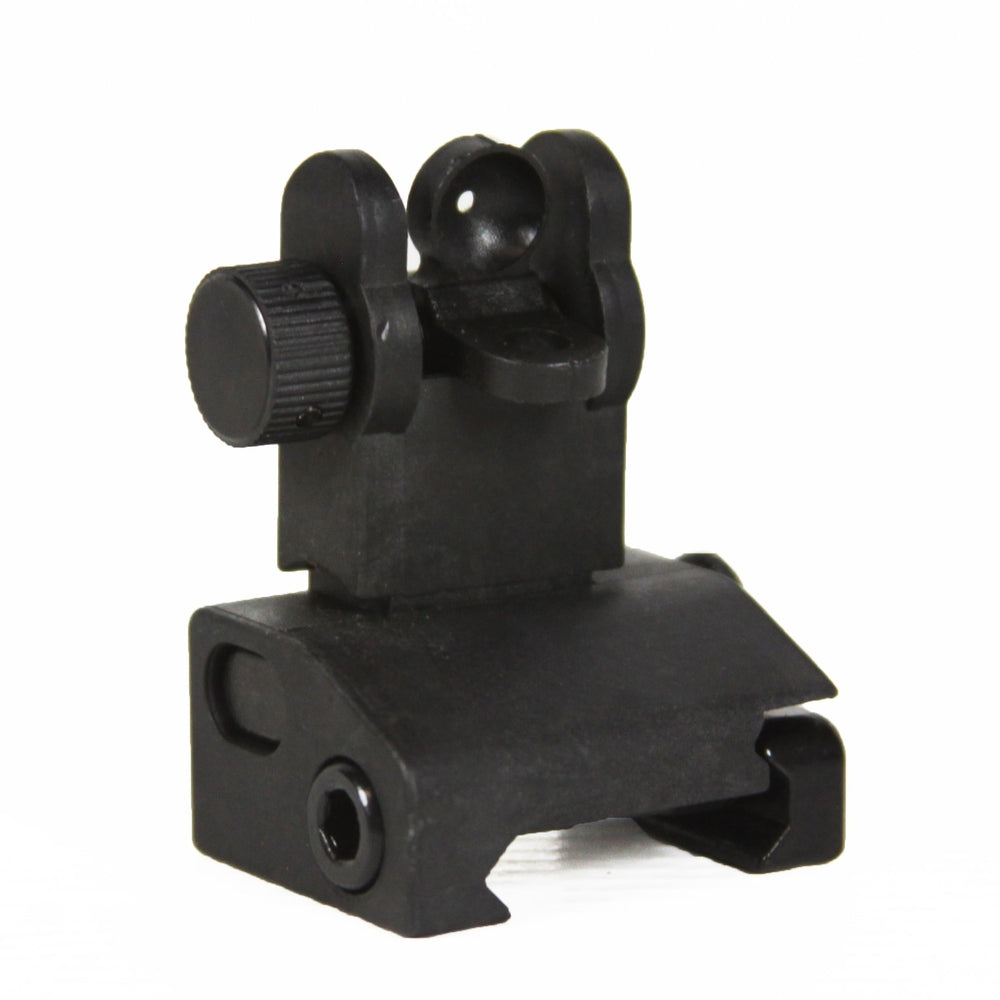 【JE Machine Tech】Made in USA AR15/M4/M16 Iron Flip Up Rear Backup Battle Sights for Mounting #00356