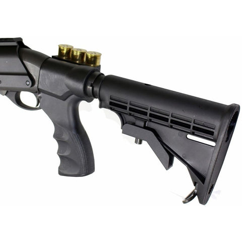 【Hunter Select】Remington 870 Adjustable Shotgun Stock, Pistol Grip w/ shell holder, Tube, Castle Nut Kit #00549