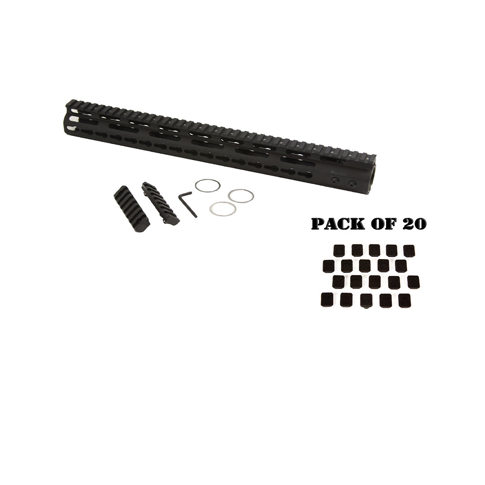 "【Hunter Select】AR-15 15"" Keymod Free Float Includes 20pc Keymod Square Covers #00570"