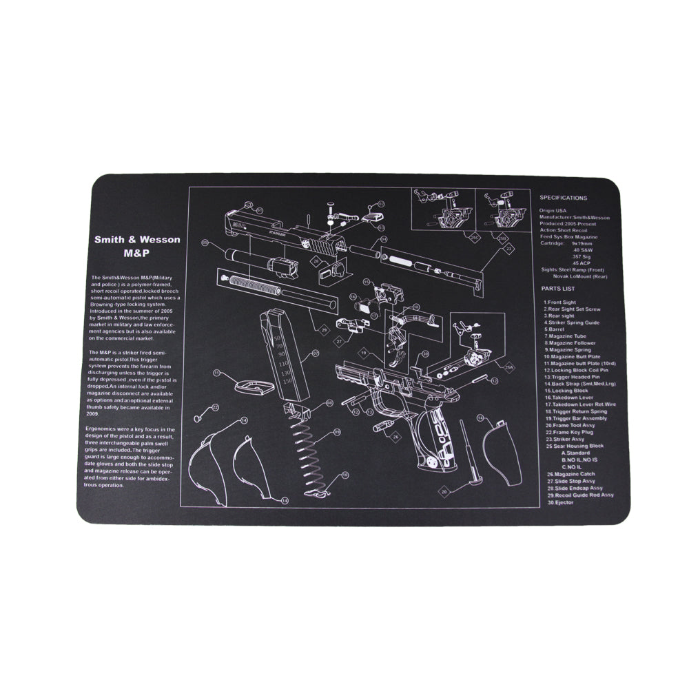 【Hunter Select】11 Inch x 17 Inch Gun Cleaning Pad Mat with Smith & Wesson M & P Imprint #00404