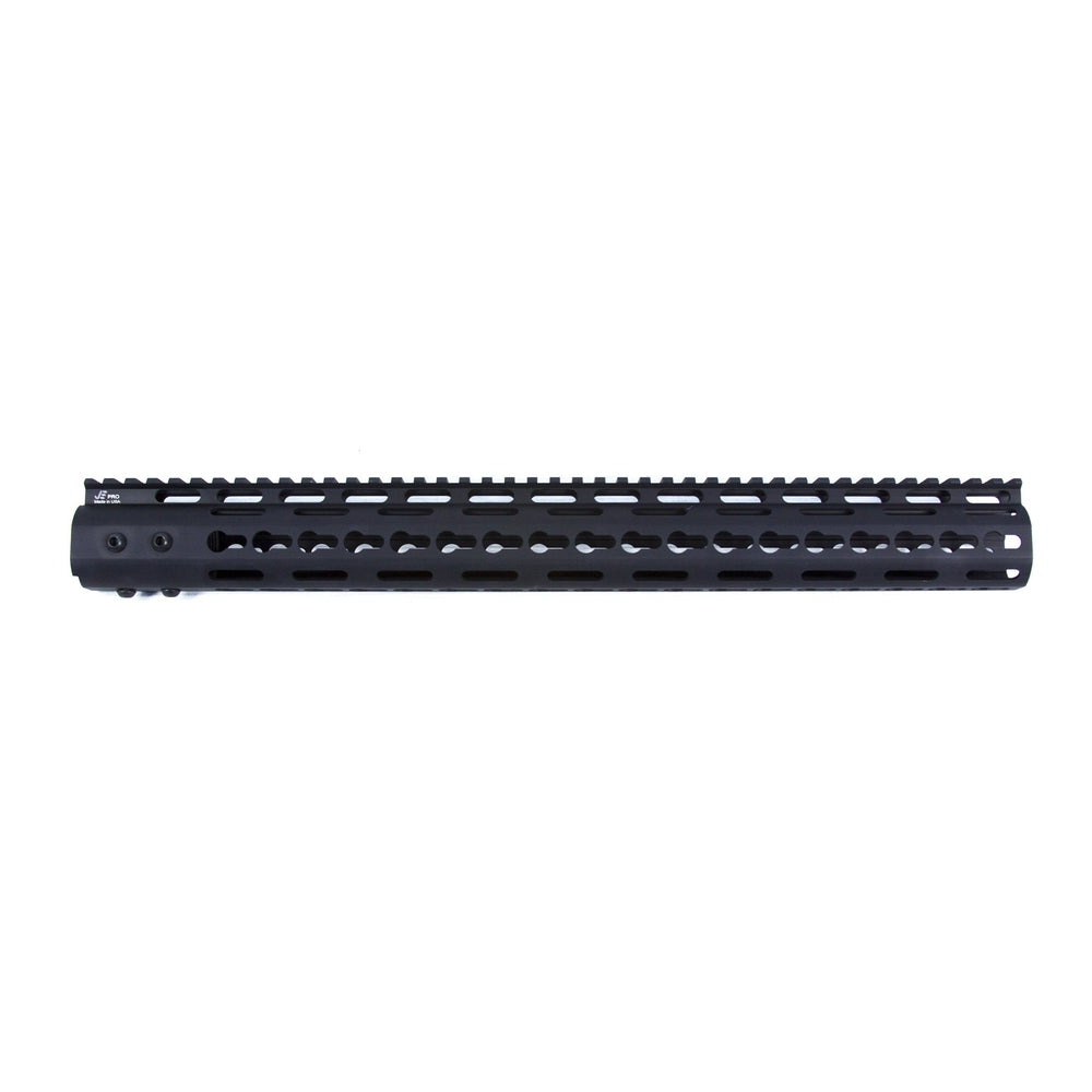 "【J&E Machine Tech】Made in USA Continuous Top Rail with Anti Rotate feature Gen-2 NSR Handguard 16.7"" #00386"