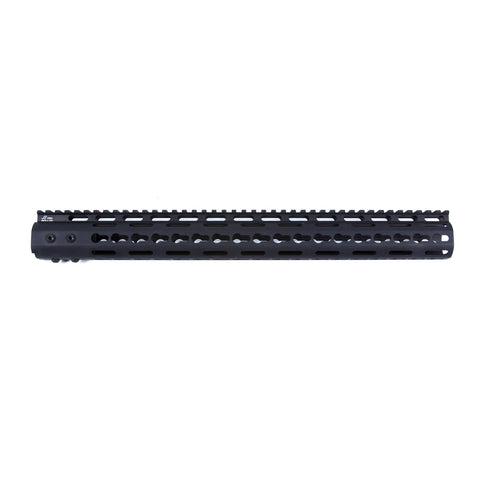 "【JE Machine Tech】Made in USA Continuous Top Rail with Anti Rotate feature Gen-2 NSR Handguard 16.7"" #00386"