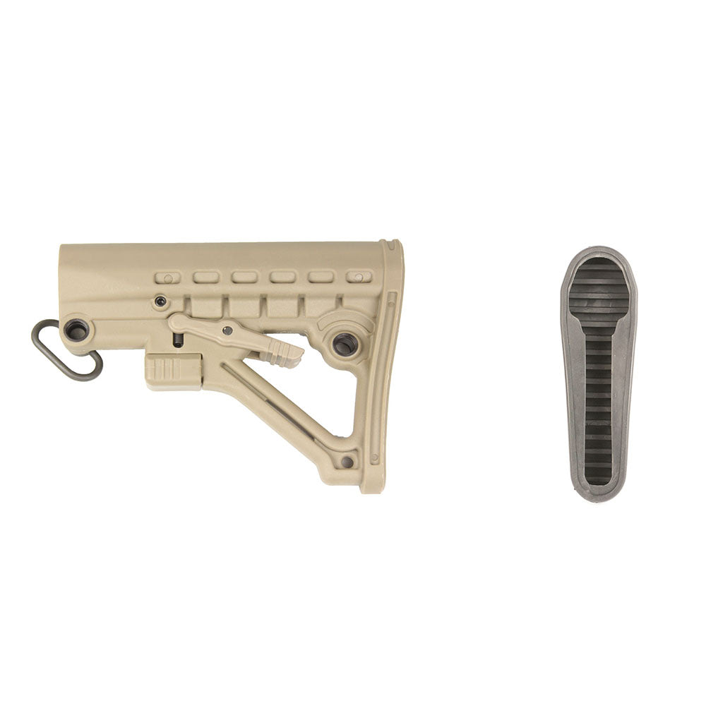 【Hunter Select】Commercial Spec Skeleton A-Frame Adjustable Stock in Tan w/ Butt Pad #00554