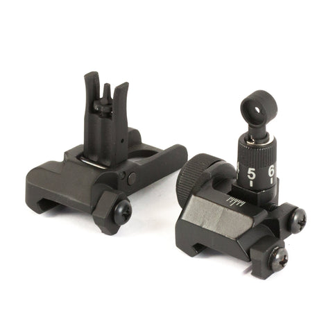 【Hunter Select】Low Profile Flip-up A2 Iron Tactical Front & Rear Sight Combo Set #00448
