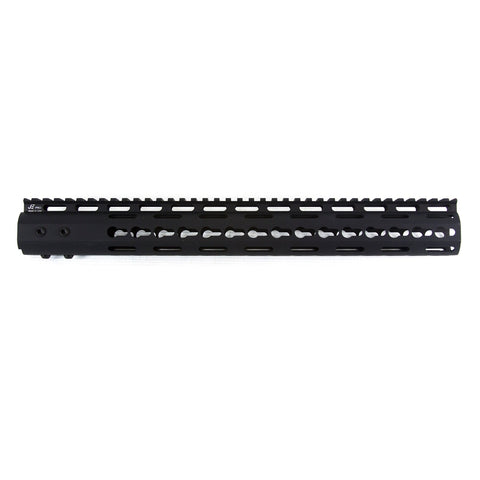 "【J&E Machine Tech】Made in USA Continuous Top Rail with Anti Rotate feature Gen-2 NSR Handguard 15"" #00385"