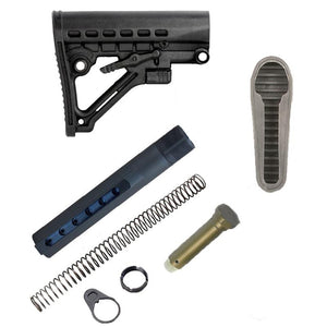 【JE Machine Tech】Made in USA Mil'Spec Skeleton A-Frame Adjustable Stock w/ Buffer Tube KIT & Butt Pad COMBO