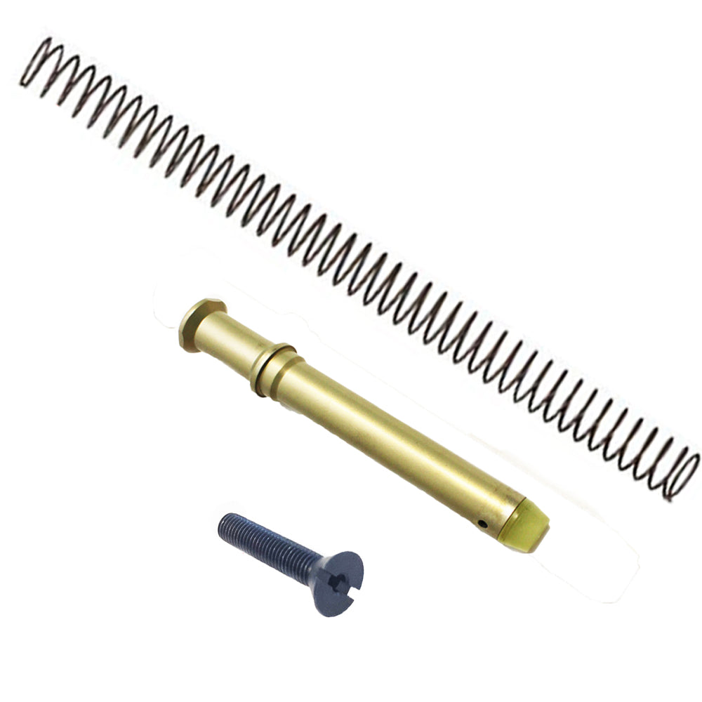 【J&E Machine Tech】Made in USA Gold 6.1 oz A2 Buffer + A2 Buffer Spring + Screw Assembly Set #00392