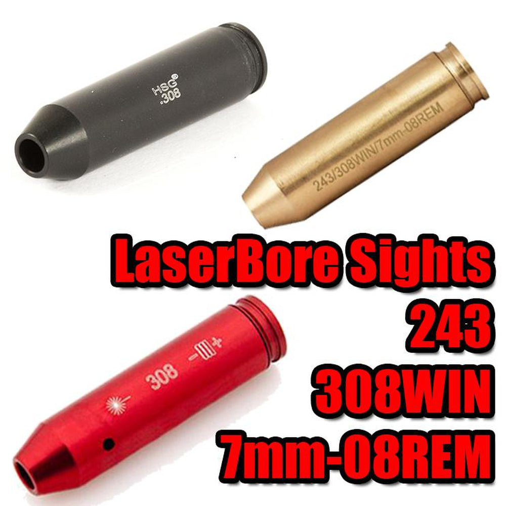 【Hunter Select】5Mw Laser Red Beam Dot Bore sight - 308 4 Colors #00268