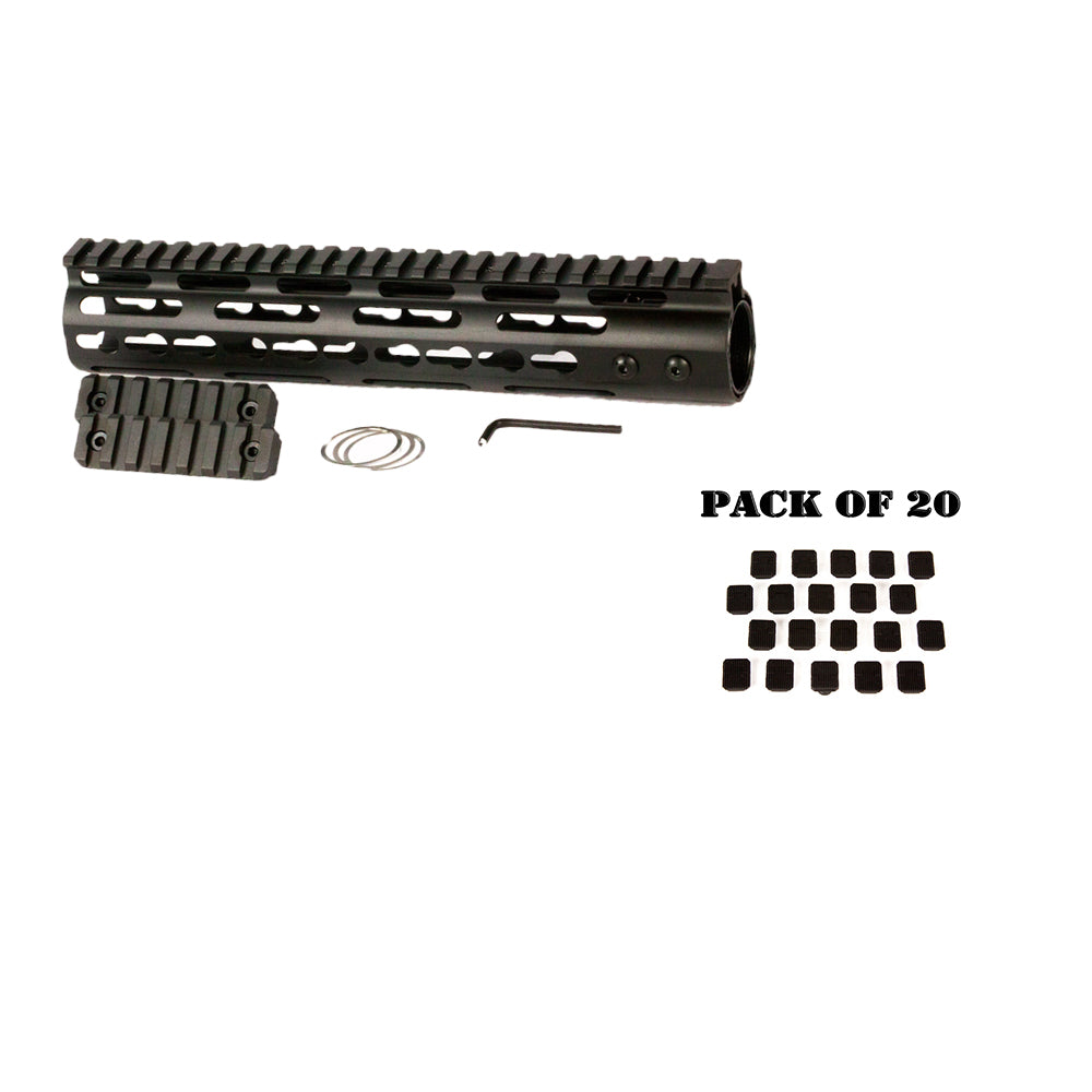 "【Hunter Select】AR-15 10"" Keymod Free Float Includes 20pc Keymod Square Covers #00568"