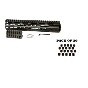 "【Hunter Select】AR-15 10"" Keymod Free Float Includes 20pc. Keymod Square Covers #00568"