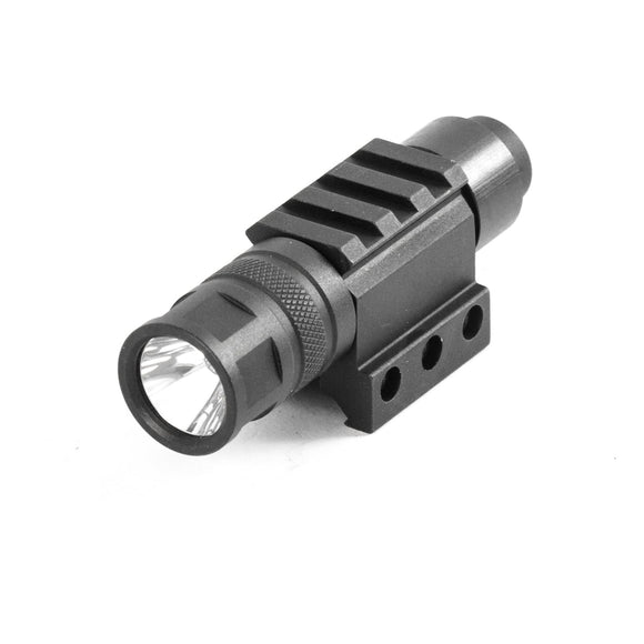 【Hunter Select】250 Lumen LED Tactical Flashlight w/ Pressure Switch and Rifle Mount and additional Rail #00276