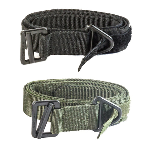 "【Hunter Select】52""x1.5"" CQB/Rigger's Belt with Hook & loop Secure Running End Black/ Tan/ Green #00294"