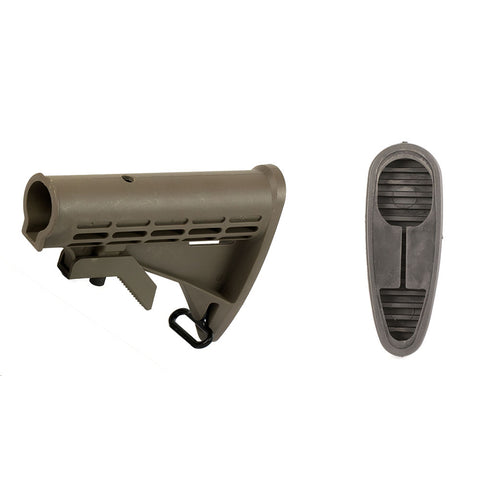 【Hunter Select】AR-15 Commercial Spec Buttstock Buttpad Included Dark Earth #00555
