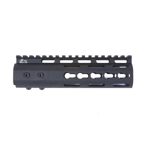 "【JE Machine Tech】Made in USA Continuous Top Rail with Anti Rotate feature Gen-2 NSR Handguard 7"" #00536"